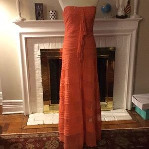 Bcbg maxazria orange/coral with sequins & beads